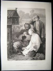 A Shrine In Russia 1873 Steel Engraving, Art Journal
